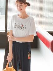 音樂Kitty印圖高含棉簡單T恤