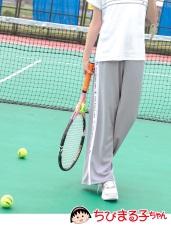 櫻桃小丸子運動會印花撞色直條寬褲/闊腿褲