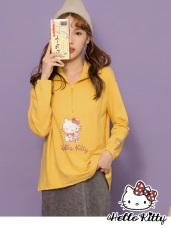 LOVE系列~KITTY印花高領拉鍊設計長袖上衣