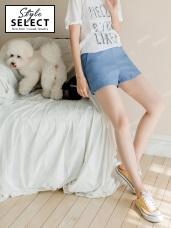 台灣製造.質感純色腰圍鬆緊造型彈性短褲.4色