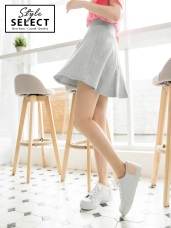 純色傘狀短裙