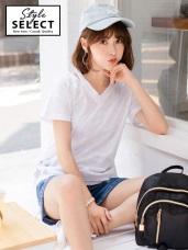 台灣製造.高含棉星星燙印設計鏤空V領上衣