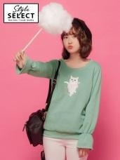 台灣製造. 可愛貓咪內刷毛上衣
