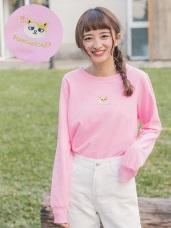 黃阿瑪系列~高含棉浣腸貓咪刺繡衛衣上衣