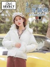 加厚鋪棉保暖連帽外套