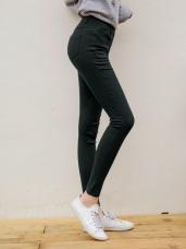 芭蕾舞褲-高腰彈力收腹純色窄管褲