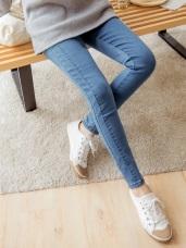 3D立體剪裁彈力牛仔窄管褲