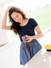 台灣製造~冰咖啡紗涼感抗UV圓領短袖上衣