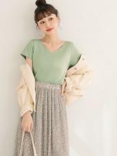 台灣製造~冰咖啡紗抗UV涼感V領上衣