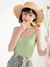 台灣製造~冰咖啡紗涼感抗UV細肩帶背心