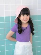 台灣製造~冰咖啡紗涼感抗UV短袖上衣(童裝