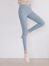 高腰彈力縮腹親膚透氣涼感修身長褲