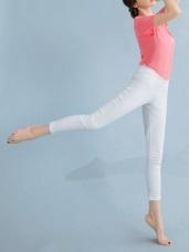 台灣製造 . 涼感抗UV腰鬆緊修身多色長褲