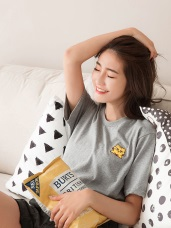 黃阿瑪系列~台灣製造.純棉嚕嚕刺繡T恤