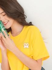 黃阿瑪系列~台灣製造.純棉三腳刺繡T恤