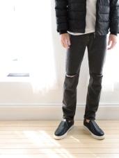 個性刷破直筒牛仔長褲‧2色