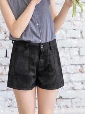 情侶系列~黑白條紋挺括西裝短褲