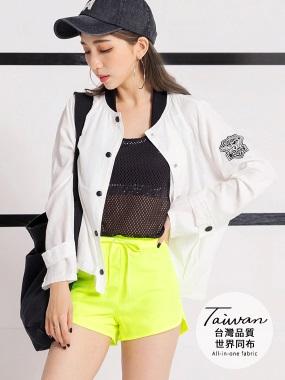 台灣品質.世界同布~內裡透氣網布素色運動短褲.4色