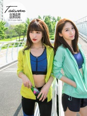 台灣品質.世界同布~夜跑反光條抗UV運動外套.6色