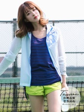 台灣品質.世界同布~橫紋透膚打結垂落式背心.6色