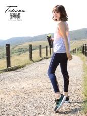 台灣品質.世界同布~壓線造型運動九分褲/瑜伽褲.3色