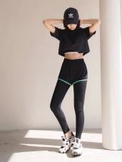 台灣品質.世界同布~假兩件式撞色短褲X內搭褲.3色
