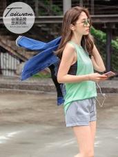 台灣品質.世界同布~吊帶露背花紗紋理運動背心.4色