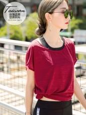 台灣品質.世界同布~微透膚橫條透氣長版上衣