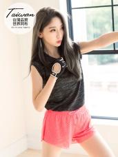 台灣品質.世界同布~透氣吸濕花紗無袖長版上衣.4色