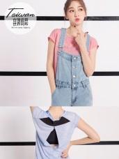 台灣品質.世界同布~美背造型花紗運動上衣