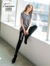 台灣品質.世界同布~花紗拼接橫條吸濕排汗寬鬆上衣