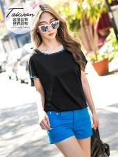 台灣品質.世界同布~城市印花蝙蝠袖吸濕排汗上衣