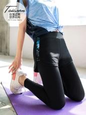 台灣品質.世界同布~城市印花短褲拼接內搭褲高彈運動褲