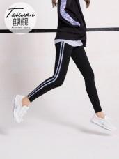 台灣品質.世界同布~牛仔印花高彈吸濕排汗運動長褲