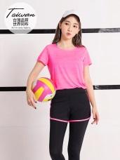 台灣品質.世界同布~透膚橫條紋吸濕排汗運動上衣