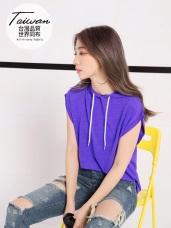 台灣品質.世界同布~連帽抽繩蝙蝠袖運動上衣