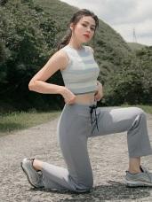 台灣製造~抗UV保暖磨毛腰鬆緊直筒運動長褲