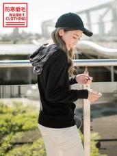 台灣製造~抗UV保暖磨毛數碼印花連帽上衣