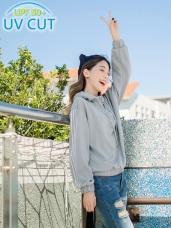 台灣製造~吸濕排汗抗UV連帽運動上衣