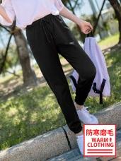 台灣製造~抗UV保暖磨毛縮口運動長褲