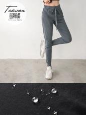 台灣製造~腰鬆緊輕防潑水縮口休閒長褲