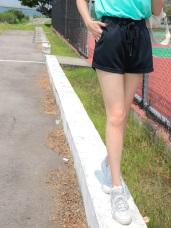 台灣製造.抗UV吸濕排汗腰抽繩運動短褲
