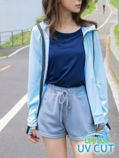 台灣製造。抗UV連帽袖套造型防曬外套