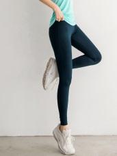 台灣製造.高彈力貼身純色運動瑜伽貼腿褲