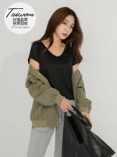 台灣製造V領吸濕排汗機能運動上衣