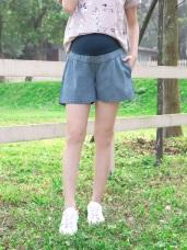 魔術360~水洗質感孕婦高棉牛仔短褲