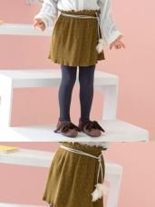 小細摺壓紋荷葉邊點點短裙‧童2色