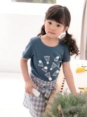 立體羽毛球印花短袖圓領上衣‧童2色