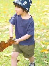 純色車線設計竹節棉圓領短袖上衣‧童3色