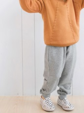 親子系列~腰鬆緊綁帶縮口棉褲